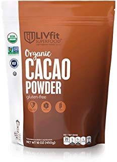 BetterBody Foods LIVfit Superfood Cacao Powder, 1.0 Lb, 90 Servings