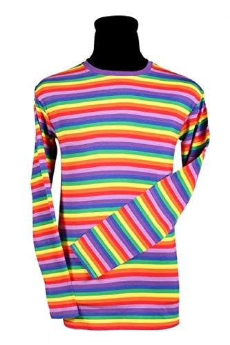 narrenkiste T2594-9900-L - Camiseta de manga larga para hombre y mujer, diseo de payaso, multicolor