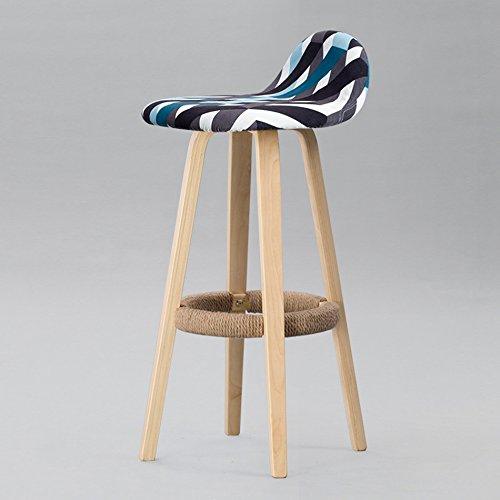 Chair DY@Z- Massivholzhocker, Bar Restaurant Stuhl Rezeption Retro Massivholz Hanfseil Stuhl Größe 33 * 82CM (Farbe : #1)