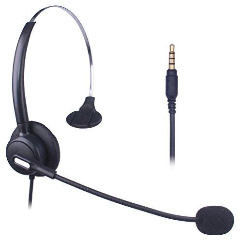 Xintronics Schnurgebundenes Headset (3,5 mm-Anschluss) für Mobiltelefone mit Nahbesprechungsmikrophon für iPhone, Samsung, Huawei, Blackberry, HTC, ZTE, LG und die meisten Smartphones.