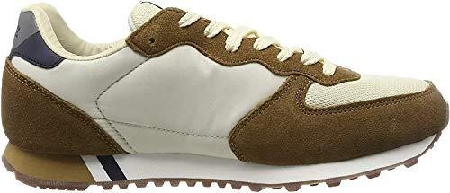 Pepe Jeans London Men's Klein Archive Low Top Sneakers, Beige (Sand 847), 10.5 UK