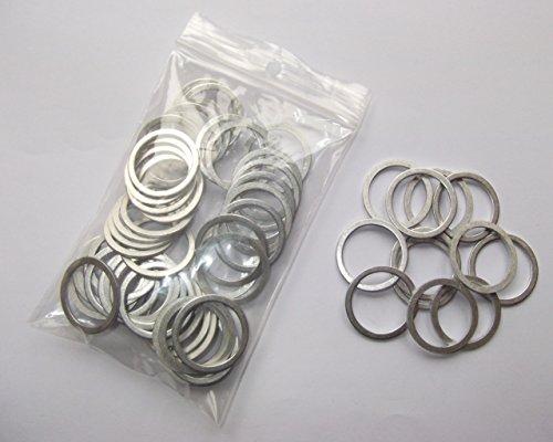 100 Stück Aluminiumringe/Dichtringe/Dichtung Alu 22x27x1,5 mm DIN 7603