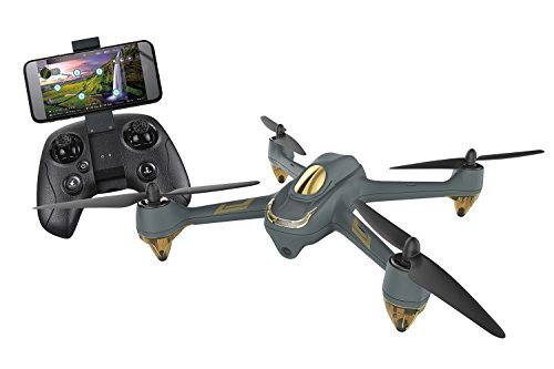 XciteRC HT009 Hubsan X4 FPV Brushless Quadrocopter-RTF-Drohne mit App-Bedienung, 720p-Kamera, GPS, Follow-Me, Waypoints, Akku, Ladegerät und Fernsteuerung H501M, Grau