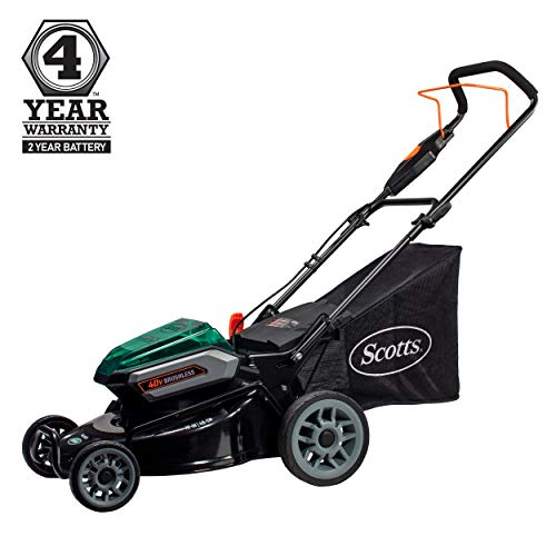 Scotts Outdoor Power Tools 61940S 19-Inch 40-Volt Cordless Lawn Mower, 5Ah Battery and Fast Charger Included