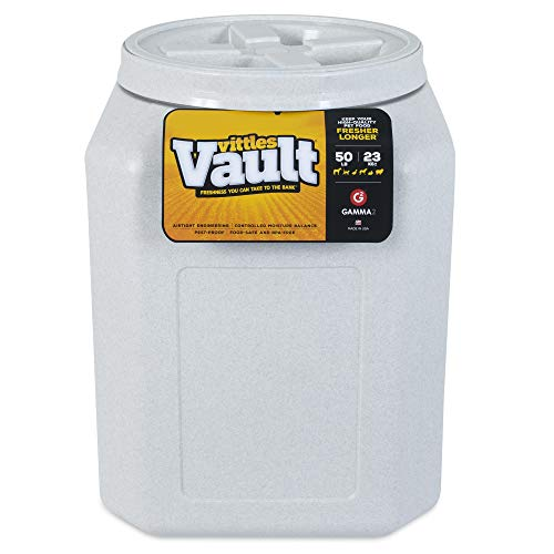 Gamma2 Vittles Vault Outback Airtight Pet Food Container, 50 Pounds