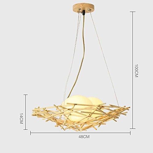Pendant Lights Chandelier Bamboo Rattan Bird Nest Led Minimalist Restaurant Lamp Lamp Bamboo