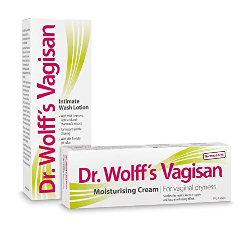 Dr. Wolff`s Vagisan Moisturising Cream, 1x50g+ Dr. Wolff`s Vagisan Intimate Wash Lotion for Women, 1x200ml-For Vaginal Dryness, The Feminine Hygiene Products for The External Intimate Area