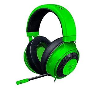 Razer Kraken Green ゲーミングヘッドセット アナログ接続 PS4 PS5 PC Switch スマートフォン 冷却ジェルパ...