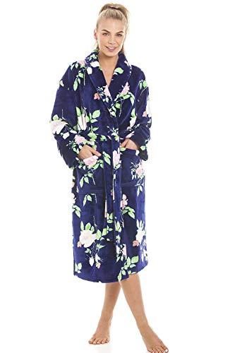 Camille Albornoz de vellón Suave de Varios Estilos y Colores para Mujer 46-48 Blue Floral
