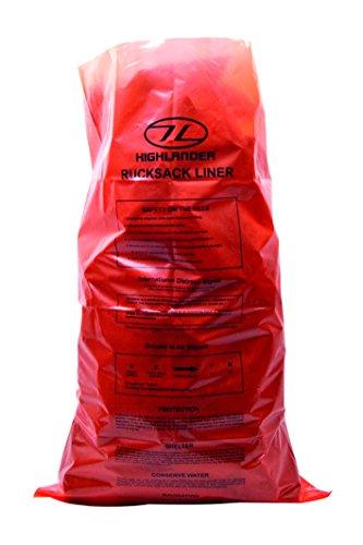Highlander ACC004 -OE Rucksack Liner For Up to 100 Litres, Orange