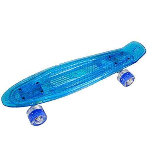 TSAUTOP Newest 22in Skateboard LED M-i-ni Cruiser Longboard Pescado Patinea Flash Penny...