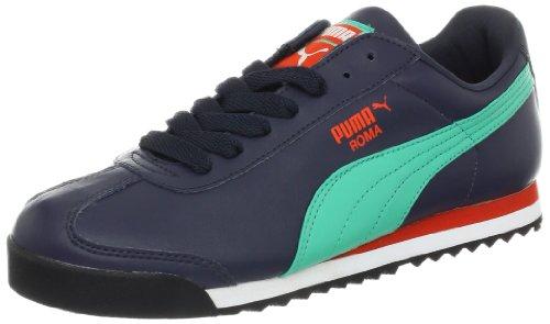 Puma Roma Basic, Scarpe da Ginnastica Basse Uomo, Blu (New Navy/Mint Leaf Red), 43 EU