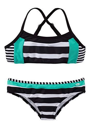 KangaROOS Damen Bustier-Bikini mit Blockstreifen