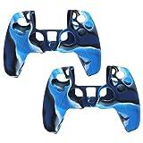 Gamepad Soft Cover, Silicona Gamepad Cover Anti-extrusión Práctico Conveniente para Uso General para Controlador De Juego para Gamepad para Uso Profesional(Camuflaje Azul)
