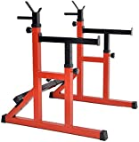 Adjustable Squat Rack, Pull-Lift Strength Training Fitness Barbell, Free Bench Press, Multifunctional Home