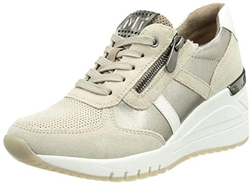 MARCO TOZZI Damen 2-2-23765-27 Leder Sneaker, Zapatillas Mujer, Taupe Comb, 40 EU