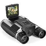 Binoculares De La Cámara Digital 12X32 5MP Video Grabador De Fotos De La Cámara Digital Binoculares, Usados para Observación De Aves, Juegos De Fútbol, con Tarjeta De 16GB TF