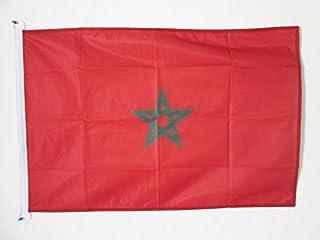 علم المغرب AZ FLAG 3 × 5 'للاستخدام الخارجي - أعلام مغربية 90 × 150 سم - لافتة 3 × 5 قدم محبوك من البوليستر مع خواتم
