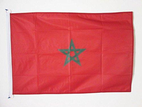 AZ FLAG Flagge MAROKKO 90x60cm - MAROKKANISCHE Fahne 60 x 90 cm Aussenverwendung - flaggen Top Qualität