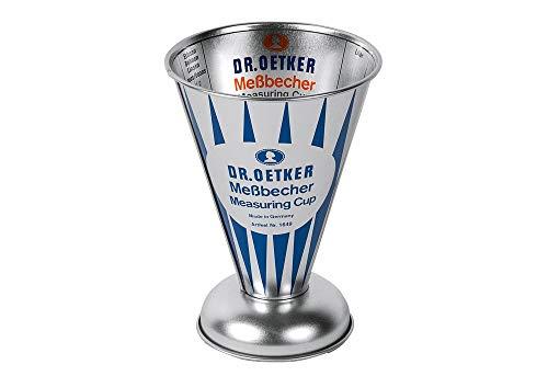 Dr. Oetker 16490.5L Edelstahl Tasse für Messen–Tassen für Messbecher 0,5L, Edelstahl, 1Stück (S)