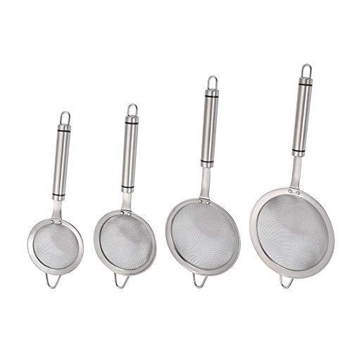 DimDay - Colador de malla de acero inoxidable para cocina (8,8 cm)