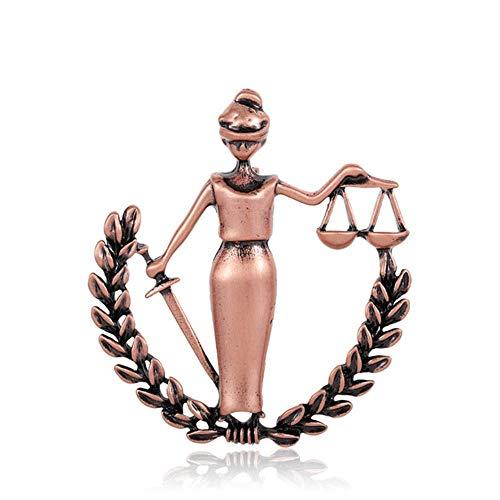 Paz Mujeres Broches Aleación Legal Abogado Insignia Collar Clip Hijab Pins Traje...