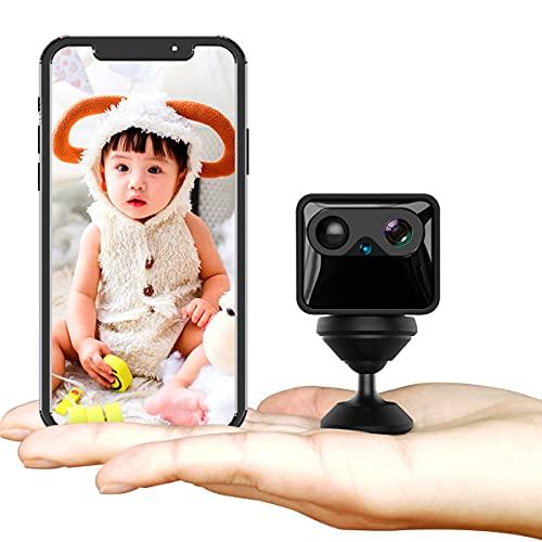 ミニ超小型防犯カメラ 4K高画質長時間録画/録音小型カメラ 携帯型監視カメラ隠しカメラ スパイカメラ 動体検知 暗視機能 配線不要 ミニ隠しスパイWiFiカメラ 双方向オーディオ付きワイヤレス4KフルHD小型スパイセキュリティカメラ APP ナイトビジョン モーション検出