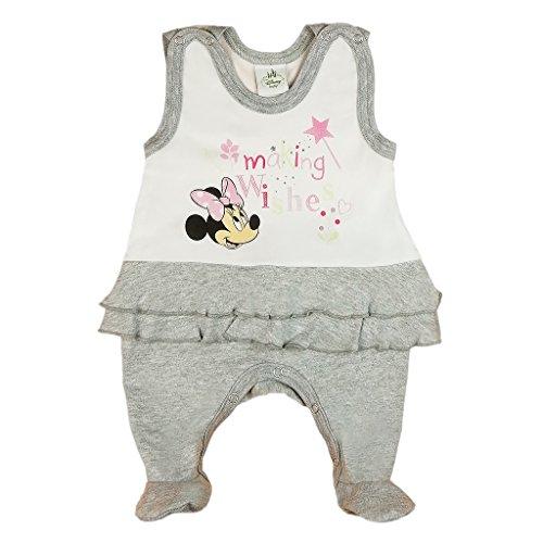Disney Baby Minnie Mouse Mädchen Strampler mit Fuß, Ärmellos und Langarm *viele Modelle* in Größe 56 62 68 74 Baumwolle auch als Baby Schlafanzug Farbe Modell 2, Größe 68