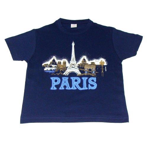 T-Shirt Garçon Paris 'Panorama' - Bleu (2 ans)