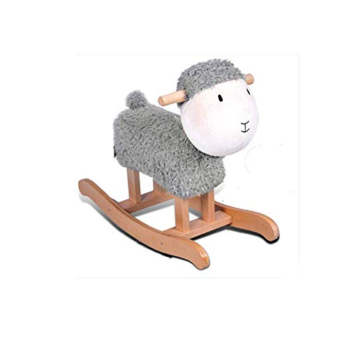 TYUXINSD Beautiful Lamb Sheep Solid Wood Children's Rocking Horse Trojan Children's Rocking Horse Toy Rocking Chair Gift (Color : A) (Color : B)