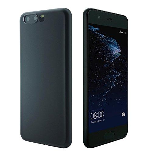 beauté d'étuis Custodia di Huawei P10, 0,3 mm UltraSlim Case per P10 sottilissimo la più Sottile Duro Custodia Protettiva del Mondo Mat Semi Transparente Copertura Cover per P10 5.1 Pollici Nero