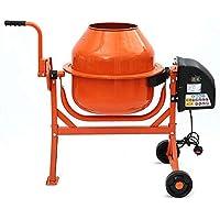 Hormigonera 63L 220W batidora eléctrica herramientas de construcción de yeso mortero de cemento barril,Orange