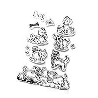 dailymall 本/犬/きのこを作るスクラップブックカードのためのDIYの明確なゴム製シリコーンのスタンプ - スタイル3