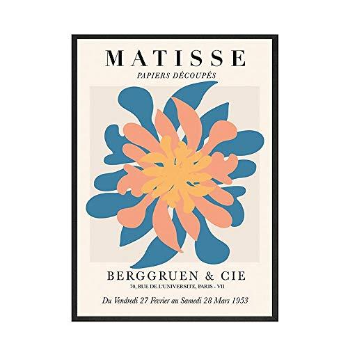 Carteles e impresiones de estilo Matisse plantas abstractas murales de sala de estar lienzo artístico pinturas de lienzo sin marco para el hogar nórdico A 30x40cm