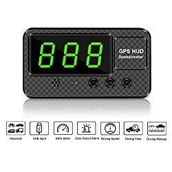 VJOYCAR C60s Digital GPS Speedometer Car Hud Head Up Display with Speeding Alert Fatigue Alarm, 100% Universal for Vehicle Truck Motorcycle SUV Pick-up Scooter and All