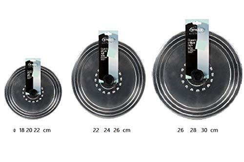 stylalu Lot DE 3 Couvercle ALU ANTIBUEE CE 18 a 22-24 a 26-26 a 30 cm pour Casserole poele marmite faitout