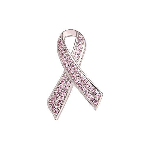 U7 Broche Mujer Lazo Pink Robbin Concienciación sobre el Cáncer de Mama