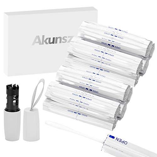 Akunsz 100本 クリーニング 綿棒とクリーナーブラシ クリーナー クリーニングスティク 独立包装 持ち運びに便利 ウェットタイプ