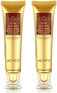 2 Pack Scar Removal Cream, Scar Reducing Treatment, Scar Remover Gel for Stretch Mark, Acne Scar, Spots, Surgical Scars, B...
