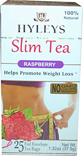 Hyley S Raspberry Weight Loss Tea 25 Foil Envelopes Pack Of 3
