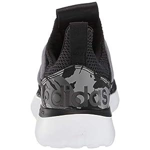 adidas Men's Lite Racer Adapt 3.0 Running Shoe, Black/Black/Grey, 10
