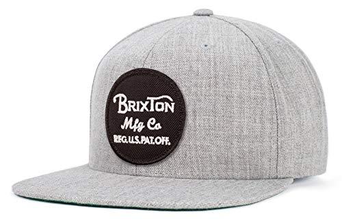 BRIXTON Casquette Mixte Wheeler Snapback Taille Unique Heather Greay/Grau