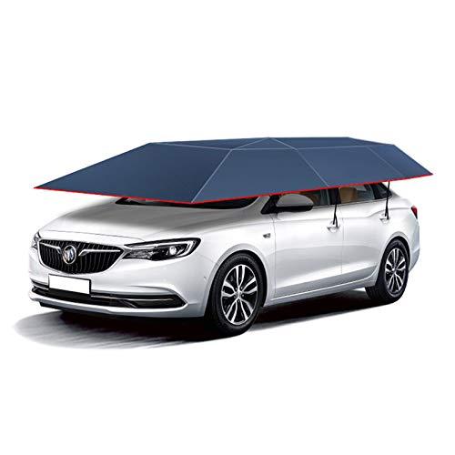 MAGO semi-automatische auto tent beweegbare carport gevouwen draagbare auto bescherming luifel cover universeel (460 * 230Cm)