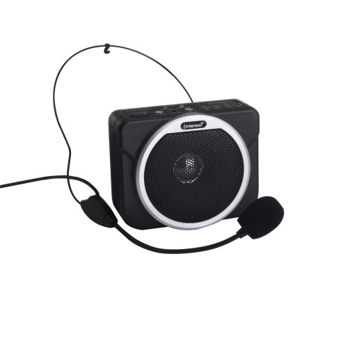 Intenso Funbox Lautsprecher für MP3 Player inkl. Sprach-Funktion (Mikrofon-Headset, USB-Port, SD-Slot) schwarz