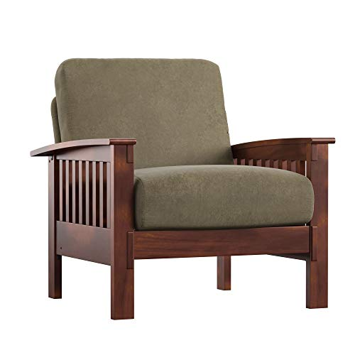 Union 5 Home Easton Olive Microfiber Mission-Style Accent Chair