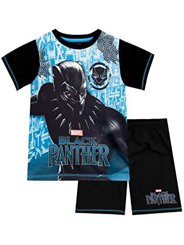 Marvel Black Panther Pijamas de Manga Corta para niños Negro 9-10 Años