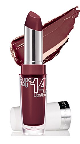 Maybelline New York Make-Up Lippenstift Super Stay 14h Lipstick Always Plum / Glitzerndes Violett mit 14 Stunden Halt, 1 x 3,5 g