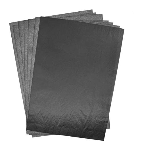 BESTZY Kohlepapier 100 Blätter Carbon Transferpapier Blatt Kohlepapier Schwarz DIN A4 Pauspapier Durchschreibepapier