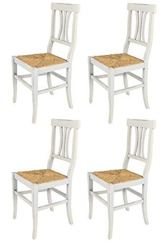 sedie da cucina shabby chic Tommychairs - Set 4 sedie modello Artemisia per cucina bar e sala da pranzo dallo stile Shabby Chic