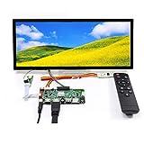 Tarjeta multimedia HDM I USB SD AV LCD Controller y 12,3 'HSD123KPW1-A30 IPS 1920X720 LCD, apto para pantalla de publicidad DIY / monitor de coche / pantalla de barra, con vidrio protector templado